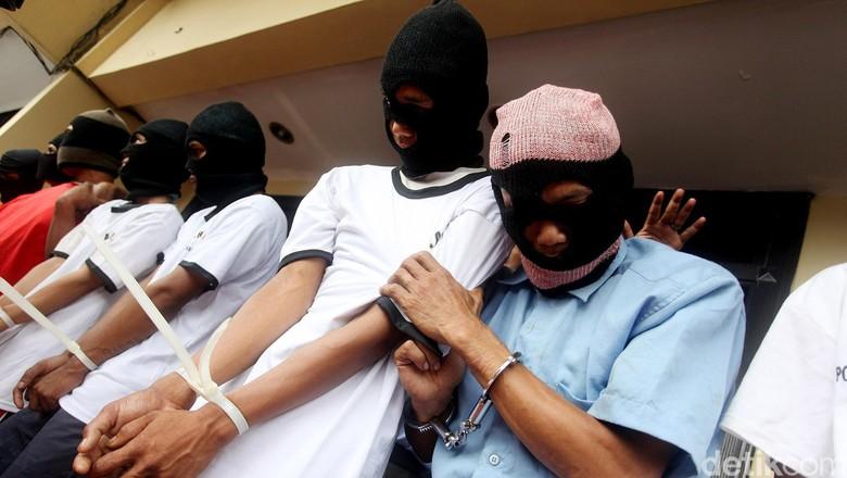 36 Pelaku Pencurian dengan Kekerasan Ditangkap dalam Sebulan