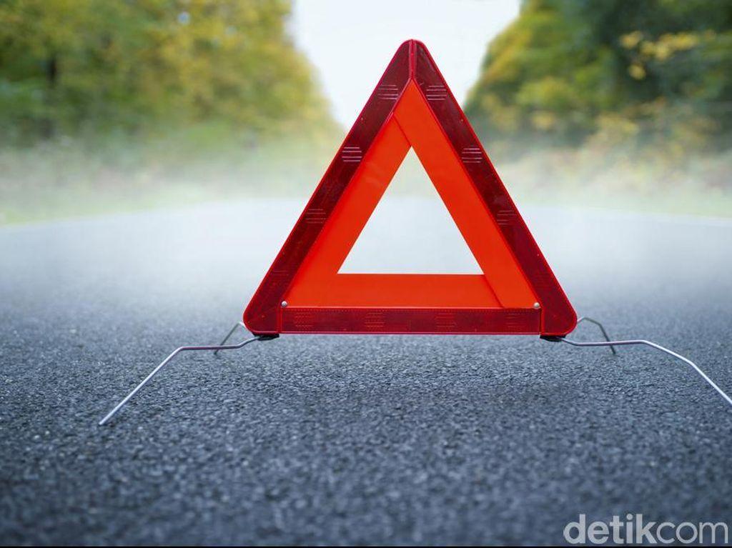 Kecelakaan Beruntun di KM 23 Tol Cengkareng, Lalin Padat
