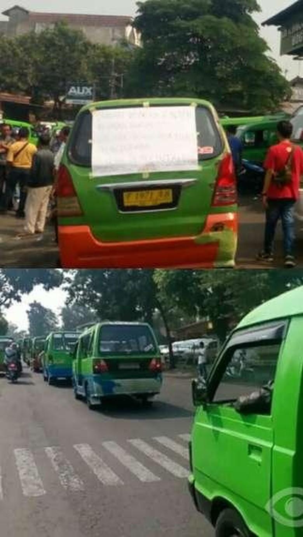 Ratusan Angkot di Bogor Mogok, Penumpang Terlantar
