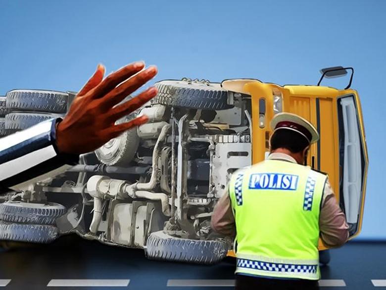 Ada Truk Tol Cawang ke - Jakarta Sebuah truk terbalik di KM Tol Dalam Kota ruas Cawang arah menuju Akibatnya arus lalu lintas sempat