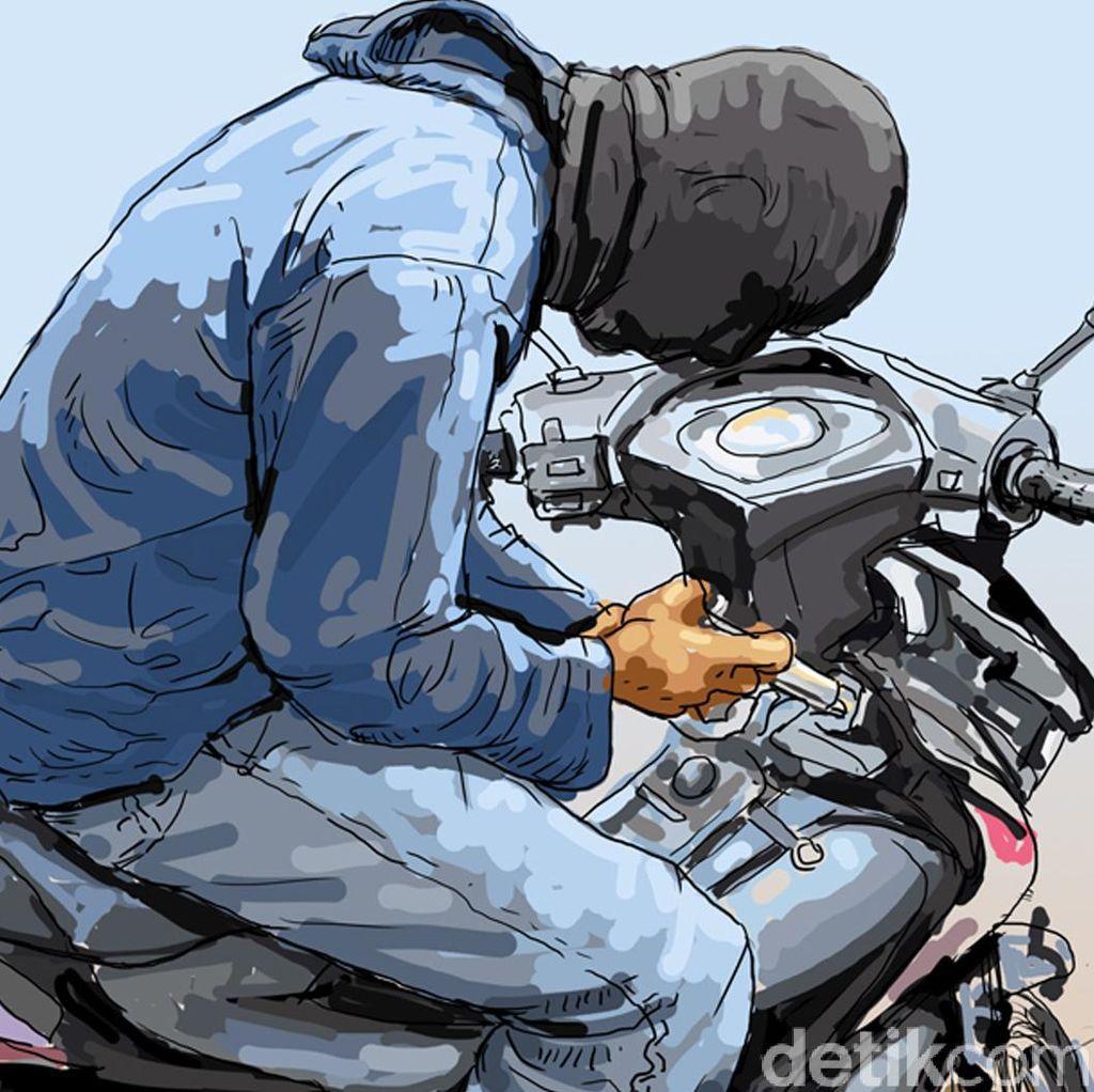 Tepergok Curi Motor, Darmawansyah Hampir Dihajar Massa di Cibubur