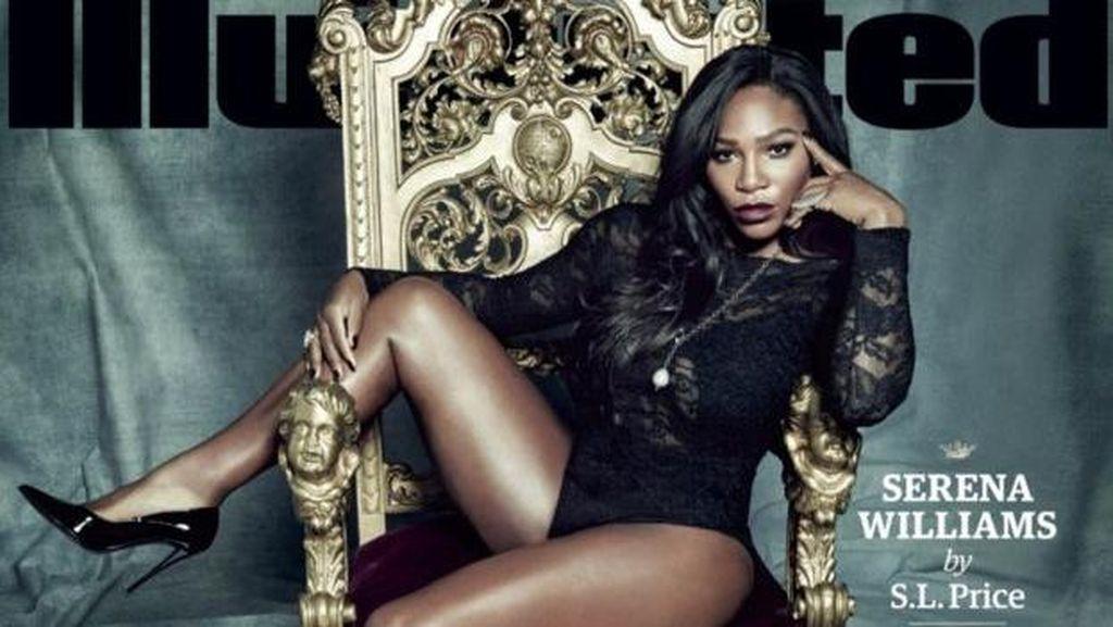 Diduga Diedit, Paha Serena Williams Terlihat Mengecil di Sampul Majalah
