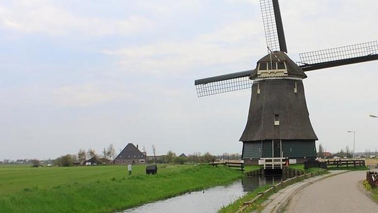 Ilustrasi Kota Amsterdam (Randy/detikTravel)