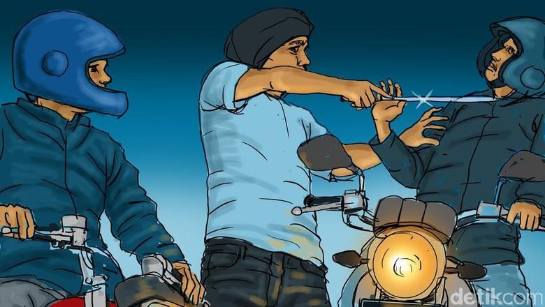 Polisi Tembak Begal Motor yang Beraksi di Karawaci