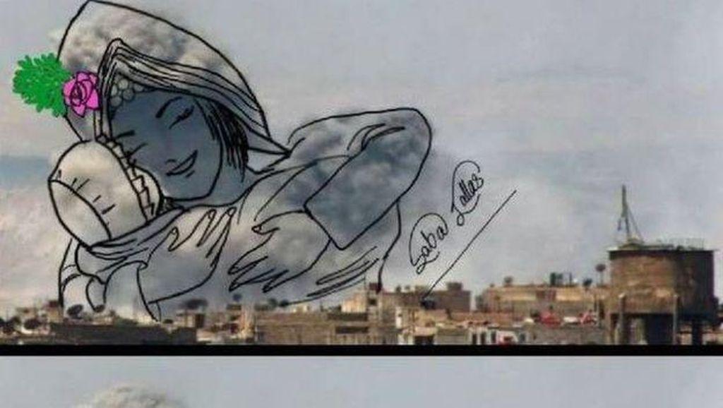 Akibat Perang, Seniman Yaman Ubah Gambar Bom Jadi Karya Unik