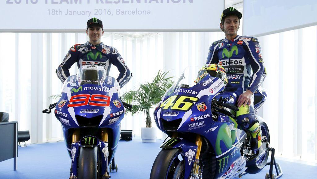 Rossi dan Lorenzo Soroti Performa Ban Basah Michelin