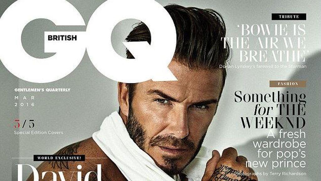 5 Wajah Tampan David Beckham di 5 Cover Berbeda Majalah GQ