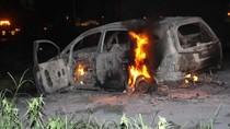 Mobil Terbakar di Exit Tol Jalur Arteri Porong, Dua Penumpang Selamat