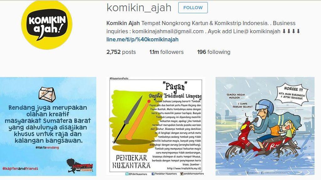 Lebih dari 18 Kota, Komikin Ajah Makin Eksis di Instagram