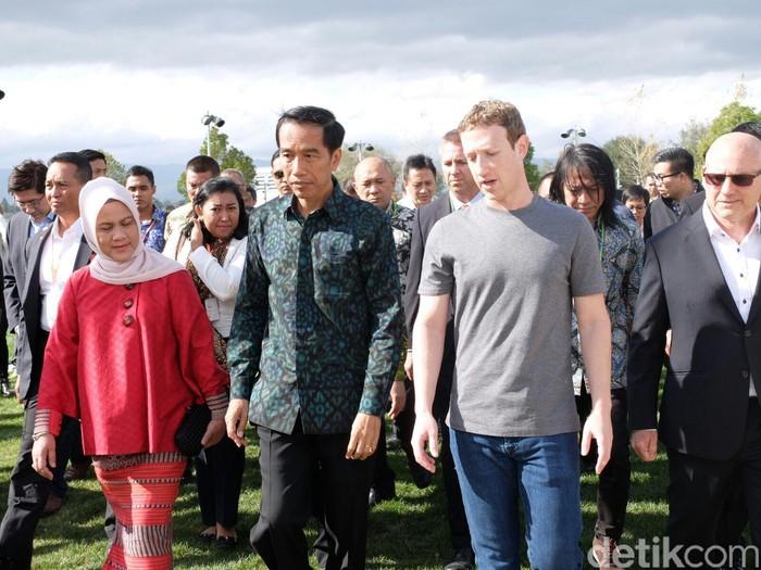 Presiden Jokowi saat ke Silicon Valley (Foto: Ikhwanul Khabibi)