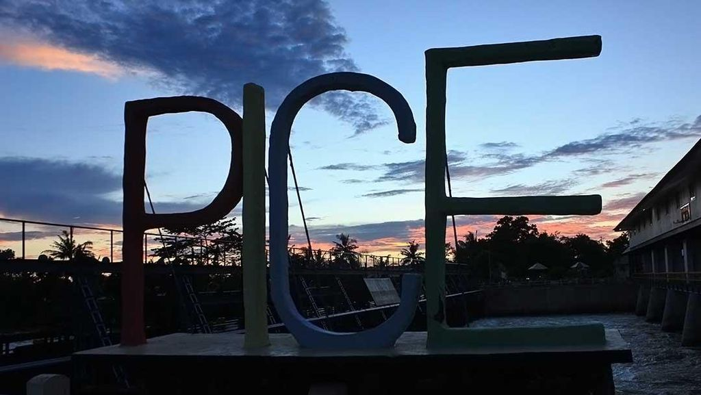 Bendung Pice: Tempat Asyik Melihat Sunset di Belitung Timur