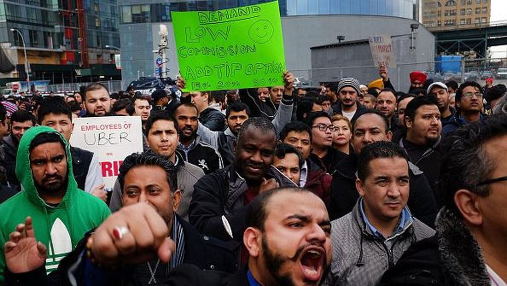 Demo Melawan Uber di Berbagai Negara