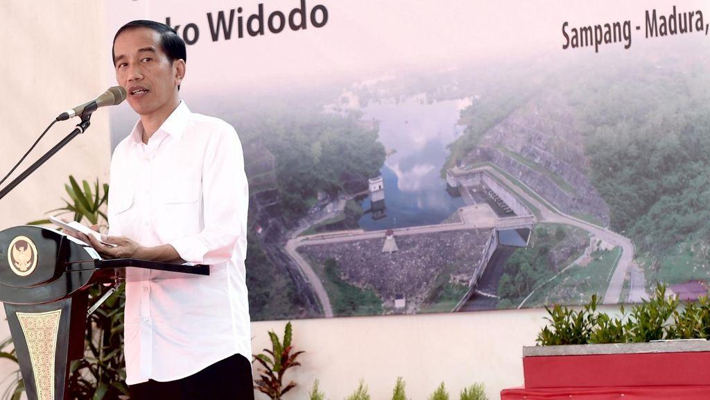 Resmikan Waduk Nipah di Madura, Jokowi: Ketersediaan Air Kunci Ketahanan Pangan