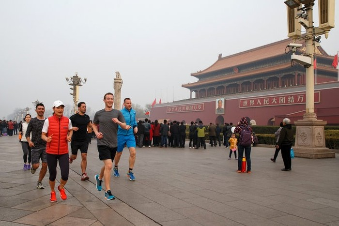 Zuckerberg saat di China. Foto: Facebook