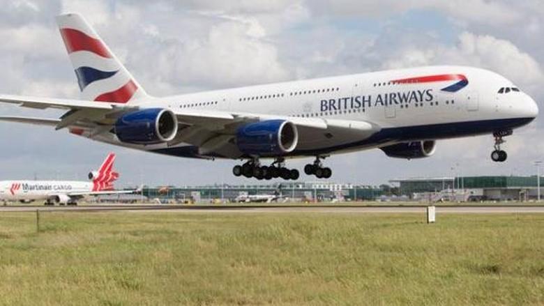 Ilustrasi pesawat British Airways (dok British Airways)