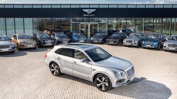 Pengiriman perdana Bentley Bentayga ke konsumen di Eropa