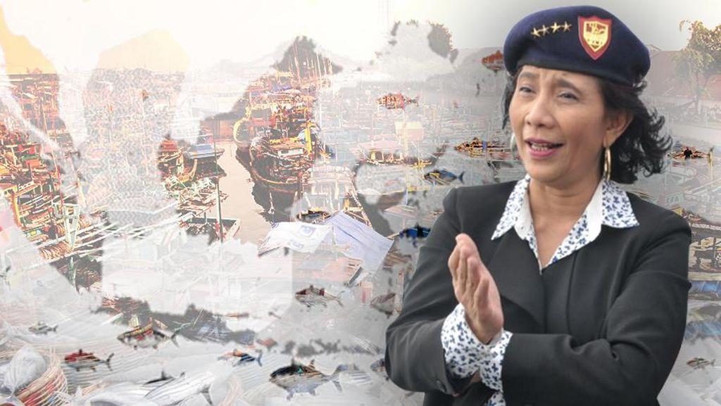 Tiga Tahun Jokowi-JK, Susi Tenggelamkan 317 Kapal Maling Ikan