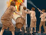 Pabrik Lilin di Jaktim Terbakar