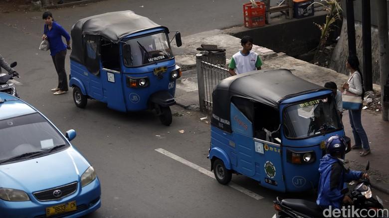 Sandiaga Janji Jadikan Bajaj Transportasi Terintegrasi