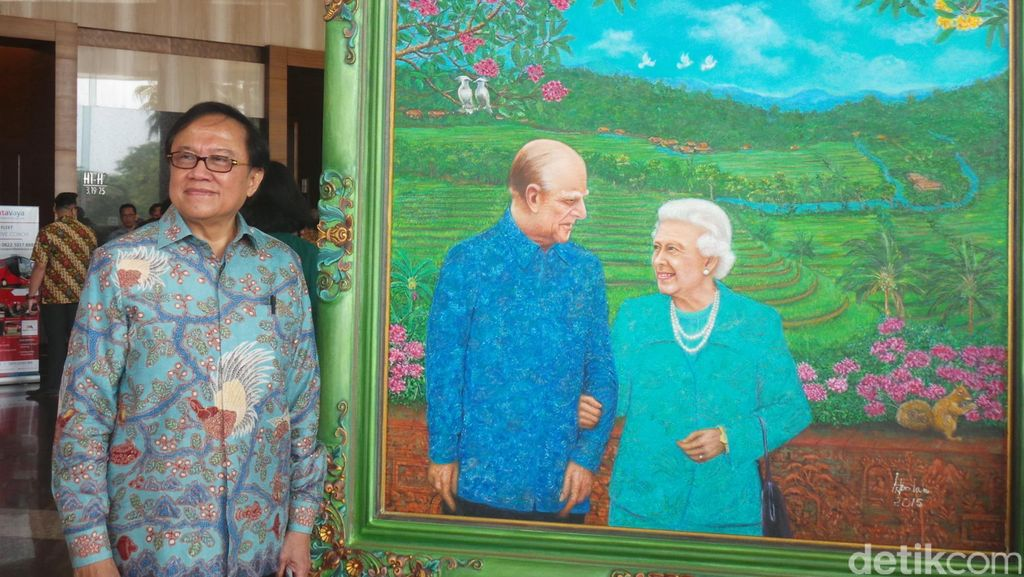 Lukisan Ratu Elizabeth II Karya Dipo Alam Terinspirasi dari Keindahan Alam Bali