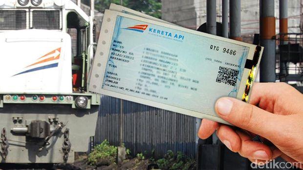 Ilustrasi tiket perjalanan kereta (Mindra Purnomo/detikTravel)