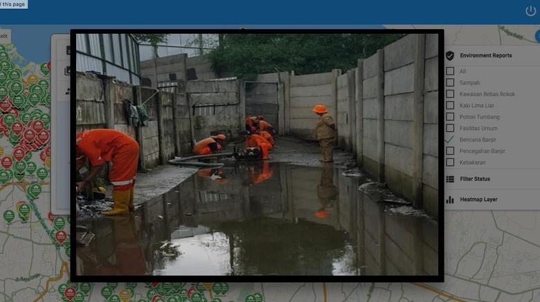 Qlue: Sampai April, 3.292 dari 4.883 Laporan Banjir Sudah Ditindaklanjuti