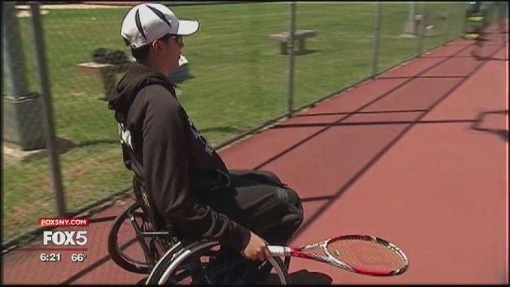 Meski Tubuh Lumpuh Separuh dan Berkursi Roda, Nate Bisa Jadi Atlet Tenis