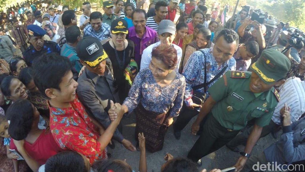 Tempuh Perjalanan 26 Jam, Menteri Susi Tiba di Lembata