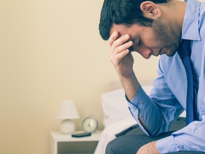 Ilustrasi pria depresi/Foto: thinkstock