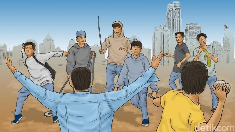 Polisi Tangkap 5 Pelajar Tawuran di Jagakarsa, 2 Korban Terluka