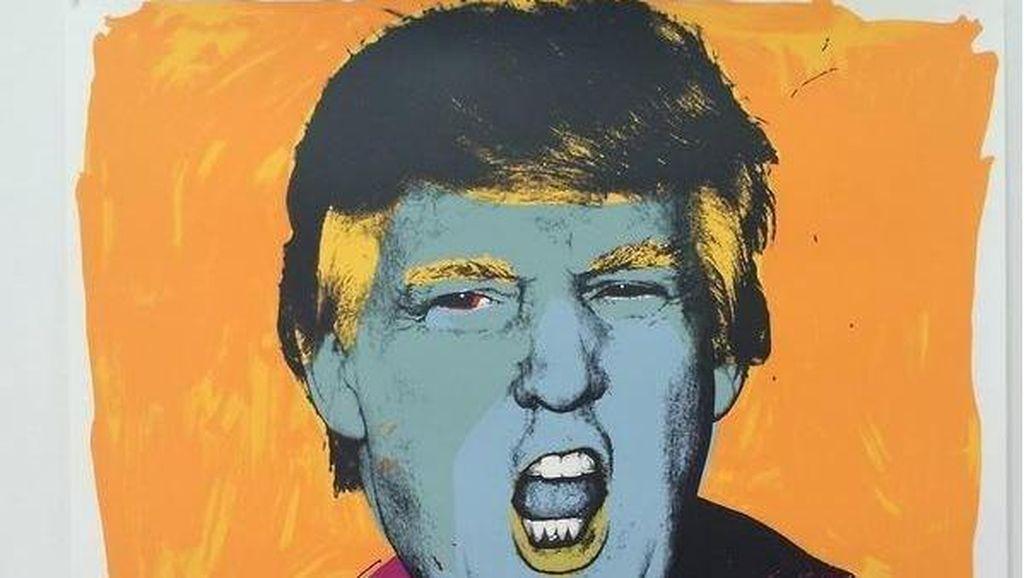 Mural Anti Trump Bergaya Warhol