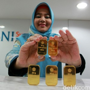 Emas Antam Betah di Harga Rp 613.000 per Gram