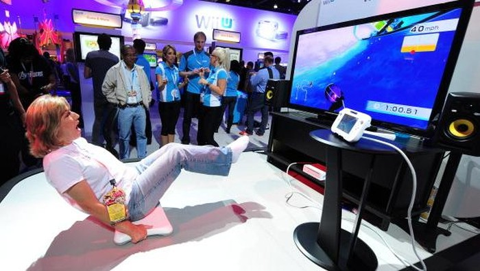 Aksesori Balance Board di konsol game Nintendo Wii. Foto: Getty Images