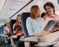 Ilutrasi dalam kabin pesawat