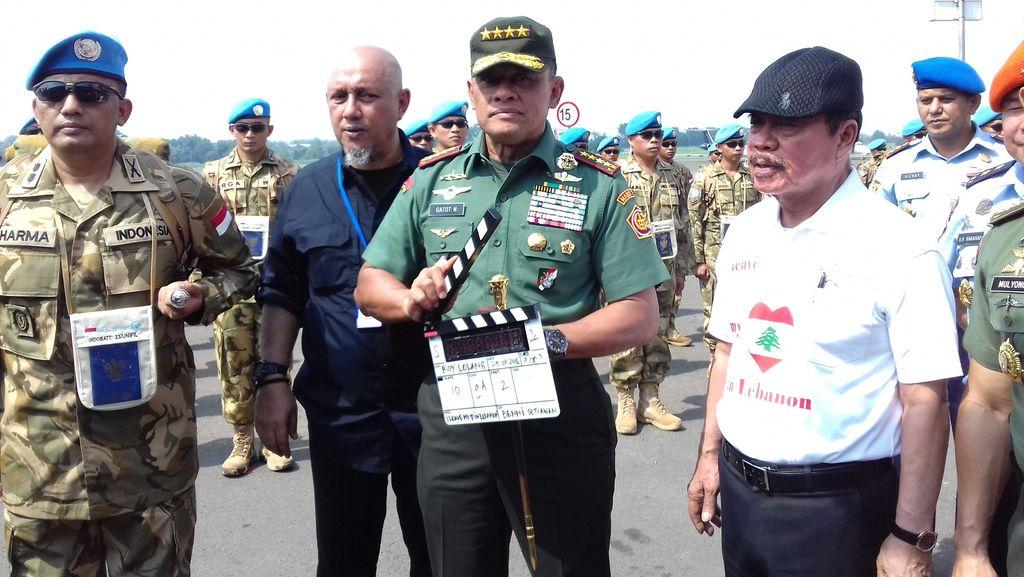 Panglima TNI Pantau Proses Syuting film Garuda 23