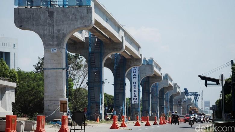 Kemenhub: Pembangunan LRT Palembang Agak Lambat