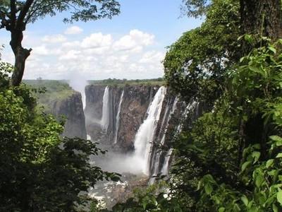 Zimbabwe dan Zambia Dipisahkan Air Terjun Cantik Raksasa