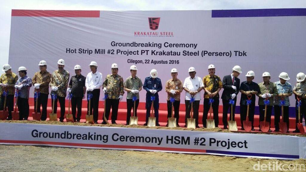 Krakatau Steel Groundbreaking Pabrik Baja Rp 5,9 T di Cilegon