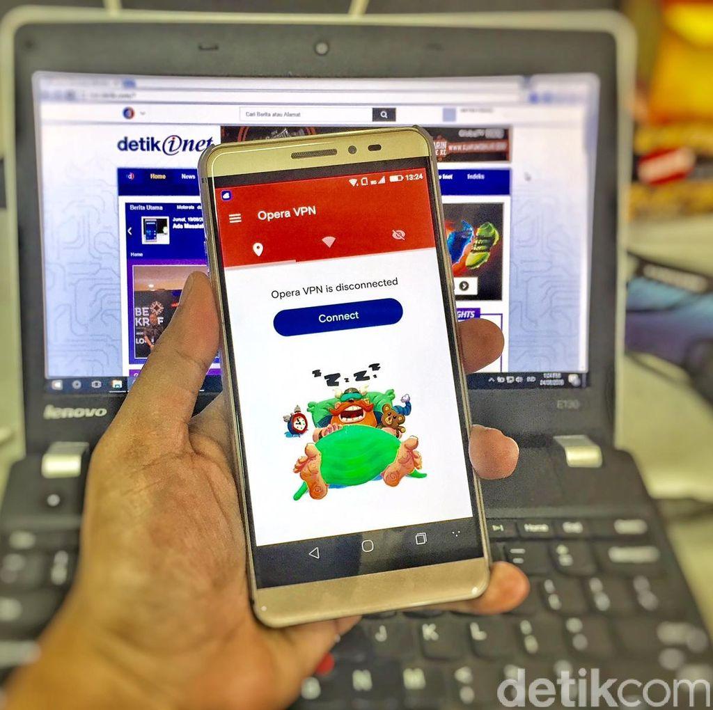 Opera Rilis VPN Gratis untuk Android