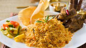 Nasi Biryani Bisa Dipadukan dengan Daging Kambing atau Sapi