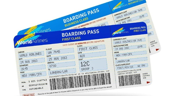 Ilustrasi boarding pass (Foto: Thinkstock)