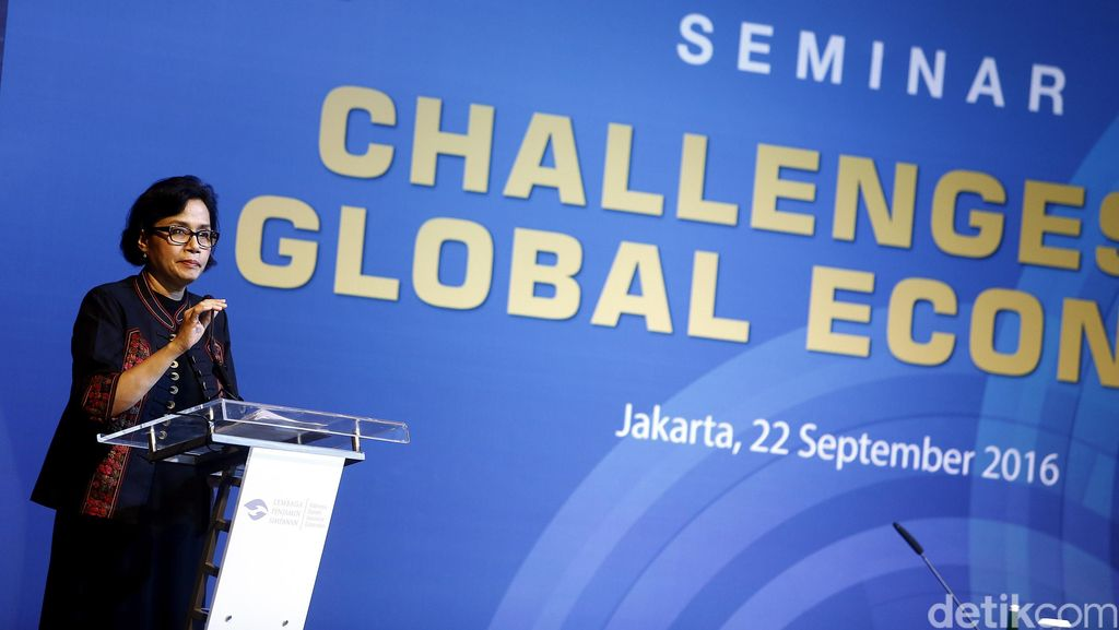 Sri Mulyani Hadiri Seminar Challenges to Global Economy