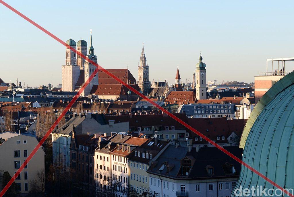 Cityscape kota Munich dijepret dengan memperhatikan garis diagonal imajiner untuk memandu golden triangle. (Foto: Ari Saputra)