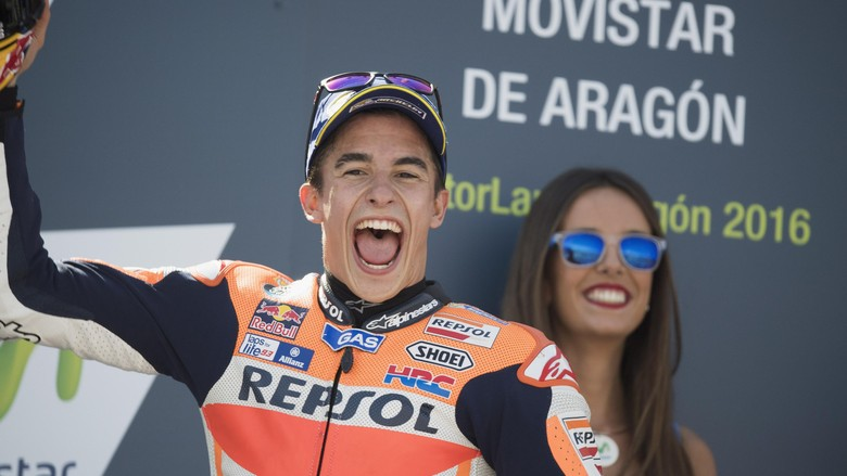 Marquez Terdepan, Lorenzo Runner-up, Rossi Ketiga