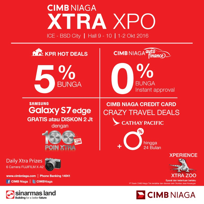 CIMB Niaga Persembahkan KPR Bunga 5% di Pameran XTRA XPO