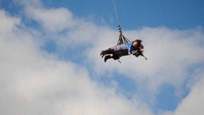 Berani naik Wahana Skycoaster