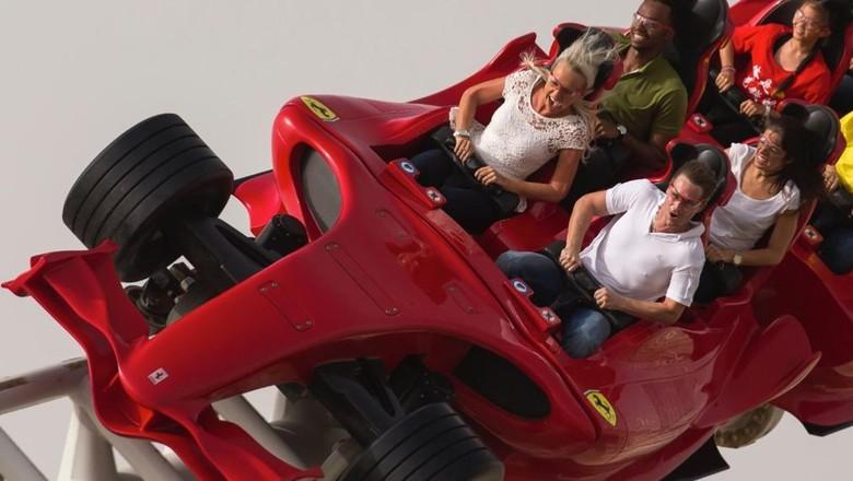 Foto: Roller coaster yang kecepatannya setara mobil F1 di Abu Dhabi (ferrariworldabudhabi.com)