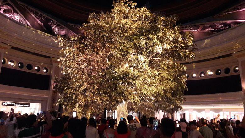 Pohon Kemakmuran di Wynn Macau (Kurnia/detikTravel)