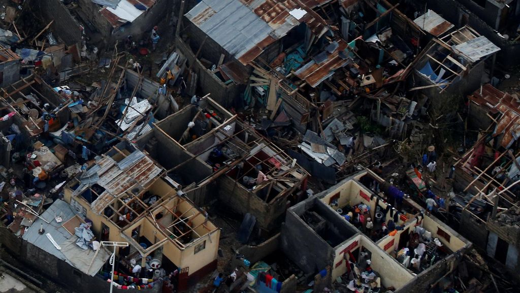 Kerusakan Akibat Badai Matthew di Haiti