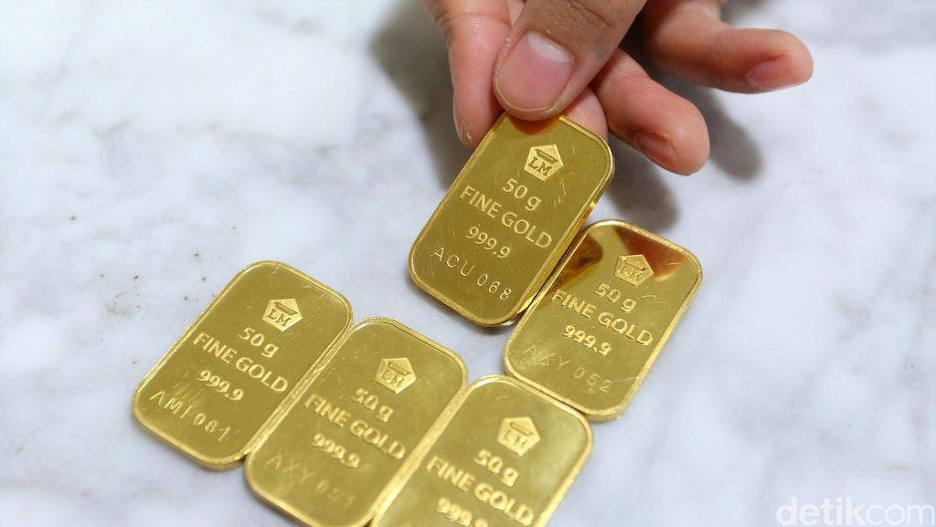 Harga Emas Antam Turun Rp 1.000 Jadi Rp 646.000/Gram